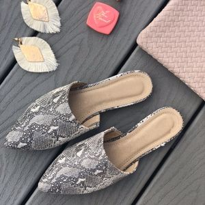 Shoes - SAVANNAH Snake Print Mules